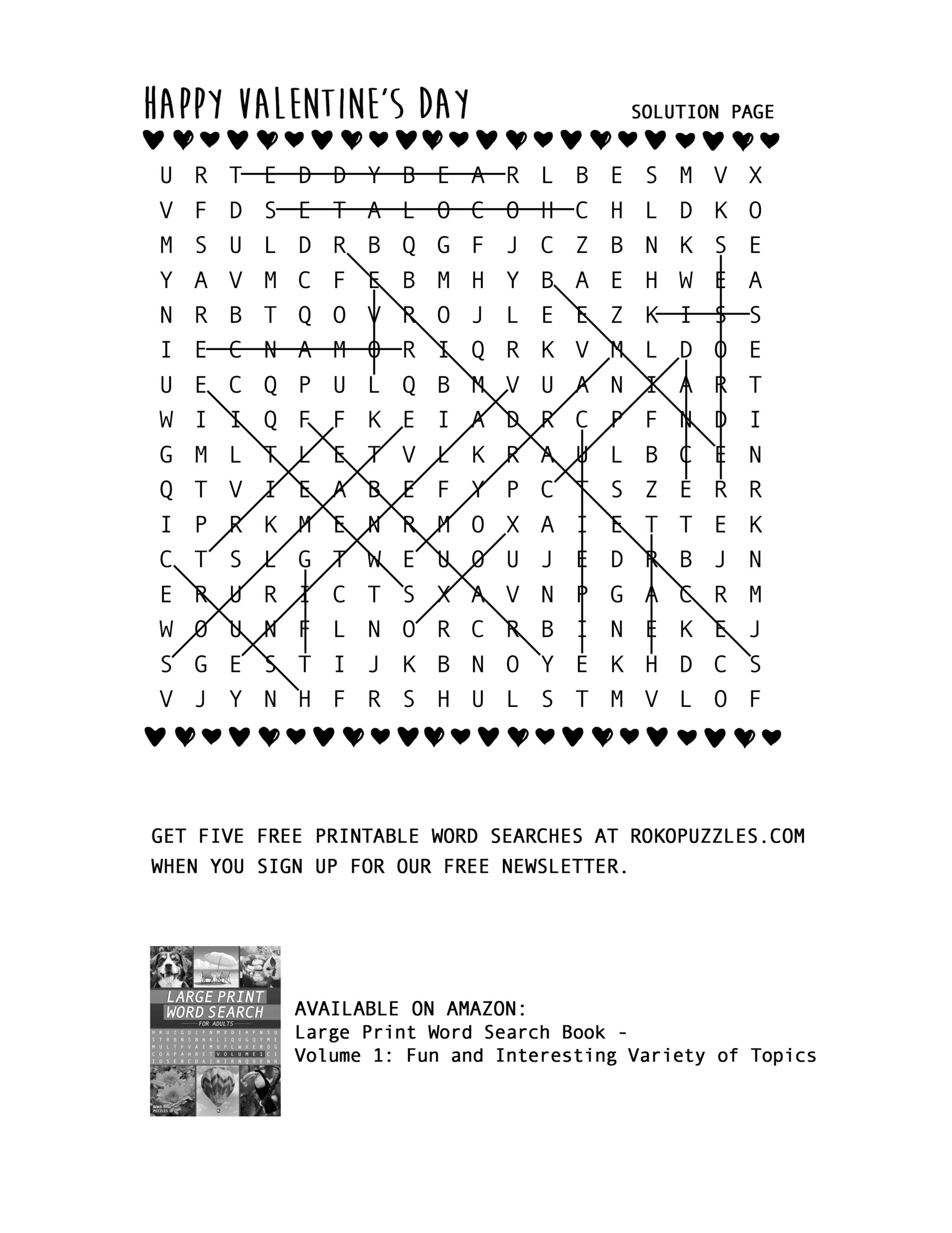 - Valentine's Day Word Search – Free Printable Download – RokoPuzzles